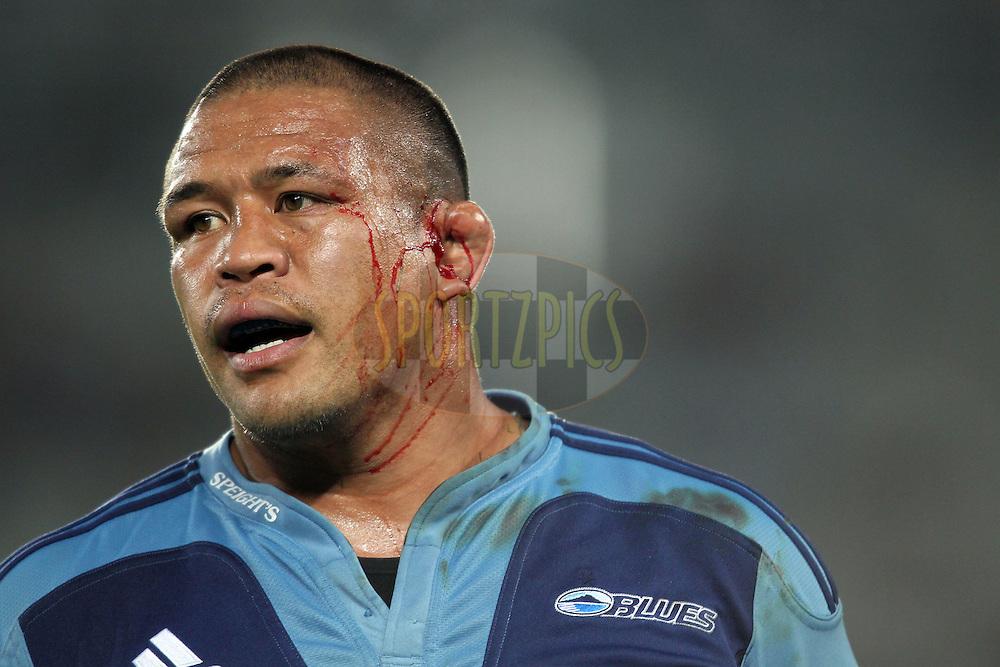 Kevin Mealamu bleeding. Investec Super Rugby - Blues v Waratahs, Eden Park, Auckland, New Zealand. Saturday 16 April 2011. Photo: Clay Cross / photosport.co.nz