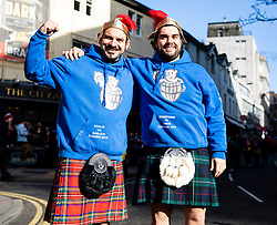 Italy fans enjoying the pre match atmosphere<br /> <br /> Photographer Simon King/Replay Images<br /> <br /> Six Nations Round 1 - Wales v Italy - Saturday 1st February 2020 - Principality Stadium - Cardiff<br /> <br /> World Copyright © Replay Images . All rights reserved. info@replayimages.co.uk - http://replayimages.co.uk