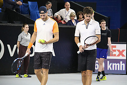 Dutch Robin Haase and British Dominic Ingot is defeated by French Julien Benneteau and Nicolas Mahut, 4-6, 7(9)-6, 5-10, in their Men's Doubles Finals of the 2017 Open 13 Tennis tournament at the Palais des Sports in Marseille, Southern France, on February 26, 2017. Photo by Philippe Farjon/ABACAPRESS.COM