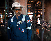 Refinery employee full PPE