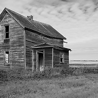Remote rural location with abandoned timer home
