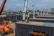 Cerro Azul, Panama - 24/03/2014:<br /> Agrekko  80MW plant in Cerro Azul, Panama<br /> (Ramon Lepage / Istmophoto)