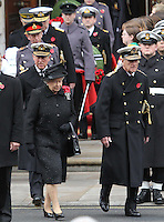 Queen Elizabeth; Prince Philip Duke Of Edinburgh; Charles Prince of Wales Remembrance Sunday - Cenotaph Service, Whitehall, London, UK, 14 November 2010:  Contact: Ian@Piqtured.com +44(0)791 626 2580 (Picture by Richard Goldschmidt)