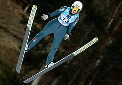 Svenja Wuerth of Germany soaring through the air during 1st Round at Day 1 of World Cup Ski Jumping Ladies Ljubno 2019, on February 8, 2019 in Ljubno ob Savinji, Slovenia. Photo by Matic Ritonja / Sportida