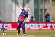 England womens cricket Heather Knight (capt) bowling  during the ICC Women's World Cup match between England and India at the 3aaa County Ground, Derby, United Kingdom on 24 June 2017. Photo by Simon Davies.
