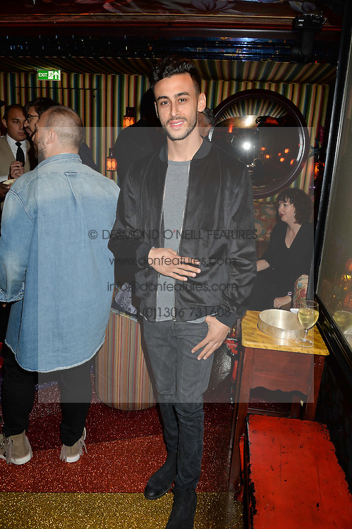 Actor FADY ELSAYED at a party hosted by fashion website Farfetch to launch i.am + EPs headphones hosted by Will.i.am at Loulou's, 5 Hertford Street, London on 16th September 2016.