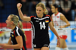 09.10.2010, Halle Berg Fidel, Muenster, GER, Vorbereitung Volleyball WM Frauen 2010, Laenderspiel Deutschland ( GER ) vs. Tuerkei ( TUR ), im Bild Margareta Kozuch (#14). EXPA Pictures © 2010, PhotoCredit: EXPA/ nph/   Conny Kurth+++++ ATTENTION - OUT OF GER +++++