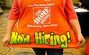 A recruiter for Home Depot is seen at a job fair in Golden, Colorado June 7, 2016. REUTERS/Rick Wilking
