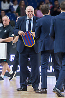 Real Madrid coach Pablo Laso and FC Barcelona Lassa coach Sito Alonso during Turkish Airlines Euroleague match between Real Madrid and FC Barcelona Lassa at Wizink Center in Madrid, Spain. December 14, 2017. (ALTERPHOTOS/Borja B.Hojas)