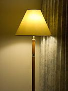 lamp in hotel motel room