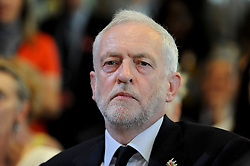 © Licensed to London News Pictures. 26/05/2017. London, UK. Jeremy Corbyn, Leader of the Labour party, prepares to give a speech on democracy in central London, in solidarity with the victims of the terrorist attack in Manchester.  Photo credit : Stephen Chung/LNP