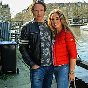 NLD/Amsterdam/20150420 - Presentatie L'Homo 2015, Sander Jansons en styliste Pascalle Swinkels