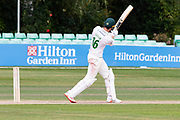 Tom Taylor hist the winning run in the Bob Willis Trophy match between Lancashire County Cricket Club and Leicestershire County Cricket Club at Blackfinch New Road, Worcester, United Kingdom on 4 August 2020.