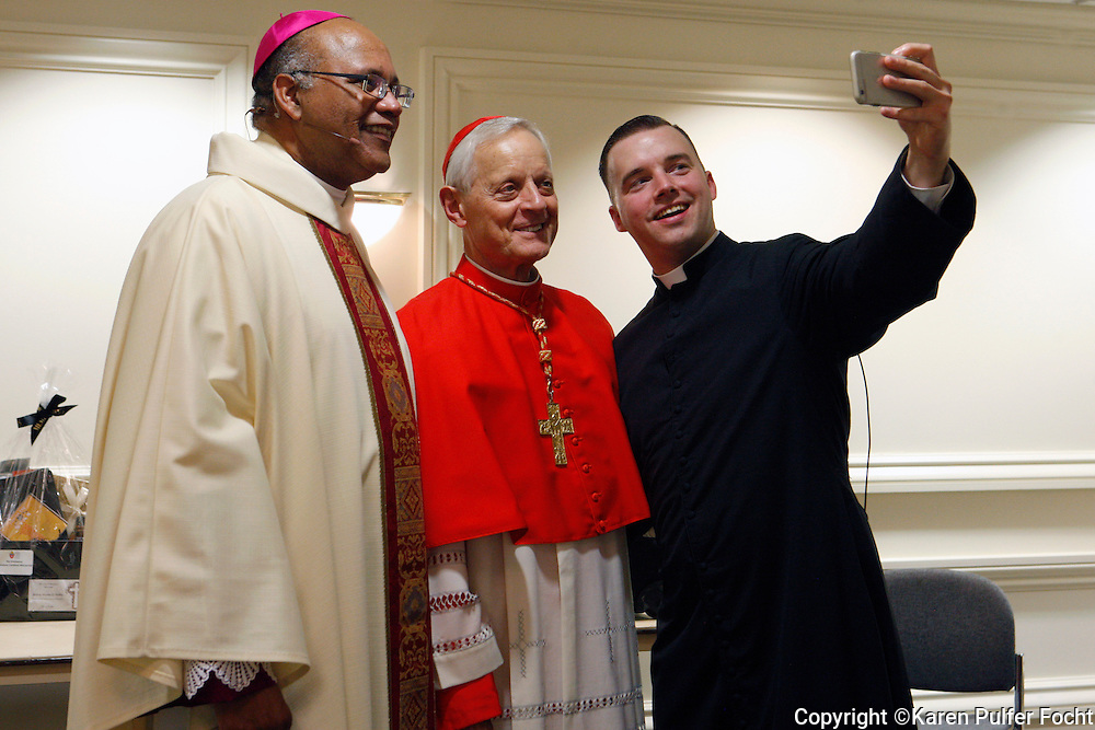 Bishop Martin Holley poses for a selfie before his installation as the Bishop in the diocese of  Memphis, Tennessee.