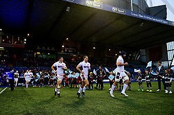 Edinburgh Rugby enter the field prior to kick off - Mandatory by-line: Ryan Hiscott/JMP - 05/10/2019 - RUGBY - Cardiff Arms Park - Cardiff, Wales - Cardiff Blues v Edinburgh Rugby - Guinness Pro 14
