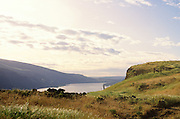A view of the Columbia River Gorge National scenic Area from the Tom McCall Nature Preserve near Rowena near The Dalles Oregon