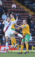 London - Friday, December 26th, 2008: Shaun Derry of Crystal Palace and Gary Doherty & Mark Fotheringham of Norwich City during the Coca Cola Championship match at Selhurst Park, London. (Pic by Alex Broadway/Focus Images)