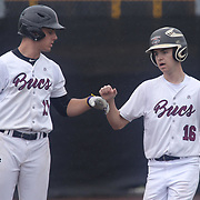 Caravel Academy Nicholas Jones (11) and Tommy	Tracey (16) in action at the plate in the third inning in the mist of the second round of the DIAA baseball state tournament between#4 Caravel Academy and #15 St. Elizabeth Saturday May 27, 2017, at Caravel Academy in Bear Delaware.
