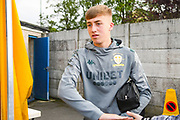 Leeds United forward Jack Clarke (47) arrives at the ground during the Pre-Season Friendly match between Guiseley  and Leeds United at Nethermoor Park, Guiseley, United Kingdom on 11 July 2019.