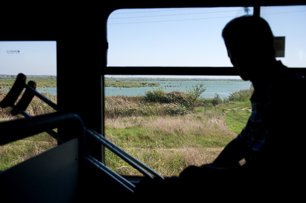 Noon, Monday 14th of September 2015. The bus from Belgrade to Kanjiža is full of refugees and migrants heading to border. One of them is a man from Daraa with a broken leg. Few hours later I see him walking with crutches on the disused rail line, it must have taken him few hours.