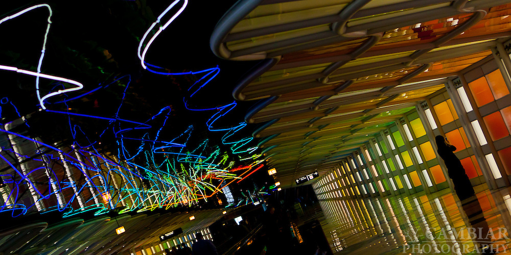 O'Hare Airport Hallway of Lights