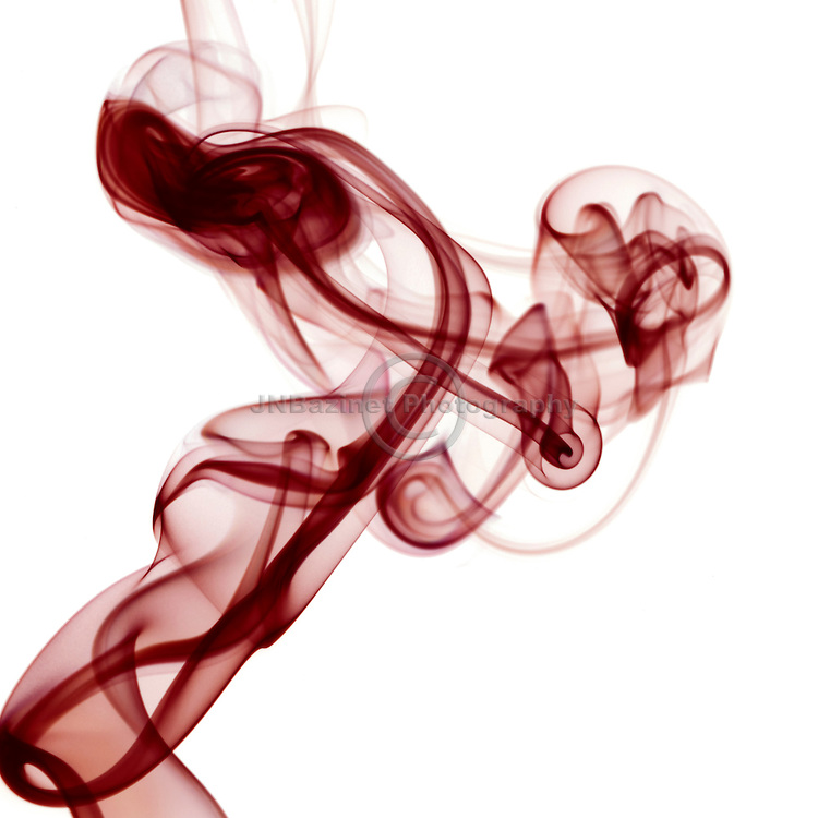 Twisting, swirling red smoke