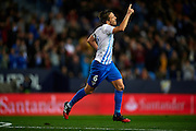 MALAGA, SPAIN - DECEMBER 09:  Ignacio Camacho of Malaga CF celebrates after scoring the first goal for of Malaga CF during La Liga match between Malaga CF and Granada CF at La Rosaleda Stadium December 9, 2016 in Malaga, Spain.  (Photo by Aitor Alcalde Colomer/Getty Images)