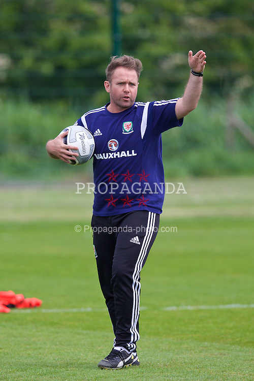 NEWPORT, WALES - Wednesday, May 27, 2015: Jarred Harvey during the Welsh Football Trust Cymru Cup 2015 at Dragon Park. (Pic by David Rawcliffe/Propaganda)
