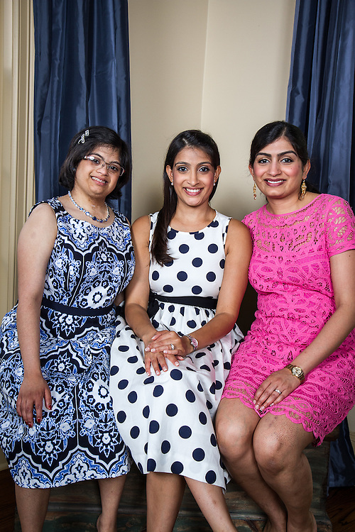 Houston, Texas: Hema Ramaswamy wtih sisters Uma Shankar and Geetha Radhakrishnan, May 24, 2014.