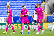 Rochdale celebrates midfielder Callum Camps (not in the picture) during the EFL Sky Bet League 1 match between Bolton Wanderers and Rochdale at the University of  Bolton Stadium, Bolton, England on 19 October 2019.