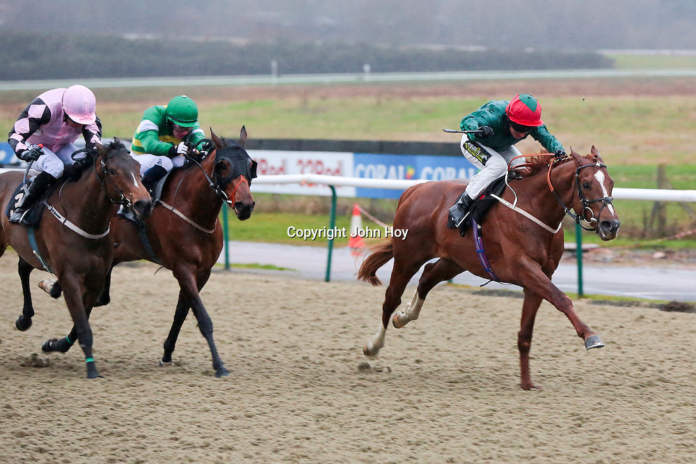 Swivel and Joe Fanning winning the 3.45 race