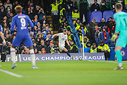 Lille midfielder Yusuf Yazıcı (12) takes a corner kick during the Champions League match between Chelsea and Lille OSC at Stamford Bridge, London, England on 10 December 2019.