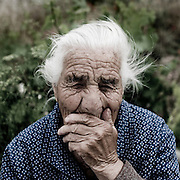 Old woman in Pastrana. Alcarria area. Guadalajara province. Castile - La Mancha. Spain.<br /> 2011 will be the 65th anniversary of Viaje a la Alcarria (Journey to the Alcarria). In the summer of 1946, seven years after the end of the Spanish Civil War, Camilo Jos&eacute; Cela set out on foot to discover the heart of Spain. He chose Alcarria northeast of Madrid, because he believed that the region - peasant, simple, rustic - would suit his purposes: it was a place where nothing ever happened; it was a place remarkable for its Spanishness. This is travel writing at its best - picaresque in the tradition of Cervantes, elegiac, evoking a Spain that has almost ceased to exist. Regarded as his greatest book of non-fiction, Journey to the Alcarria should help establish why Cela, at the end of 1989, surprised an English-language readership unfamiliar with his work by receiving the Nobel Prize for Literature.