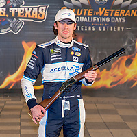 November 02, 2018 - Ft. Worth, Texas, USA: Ryan Blaney (12) wins the pole award for the AAA Texas 500 at Texas Motor Speedway in Ft. Worth, Texas.