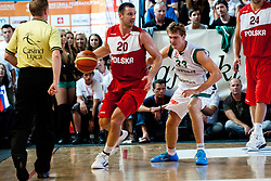 Piotr Szczotka of Poland vs Zoran Dragic of Slovenia at exhibition game between Slovenia and Poland for Primus Trophy 2011Lithuania as part of exhibition games before European Championship L2011on July 23, 2011, in Ljudski Vrt, Ptuj, Slovenia. (Photo by Matic Klansek Velej / Sportida)