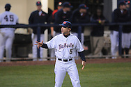 Ole Miss Head Coach Mike Bianco (5) at Oxford-University Stadium in Oxford, Miss. on Tuesday, March 1, 2010.