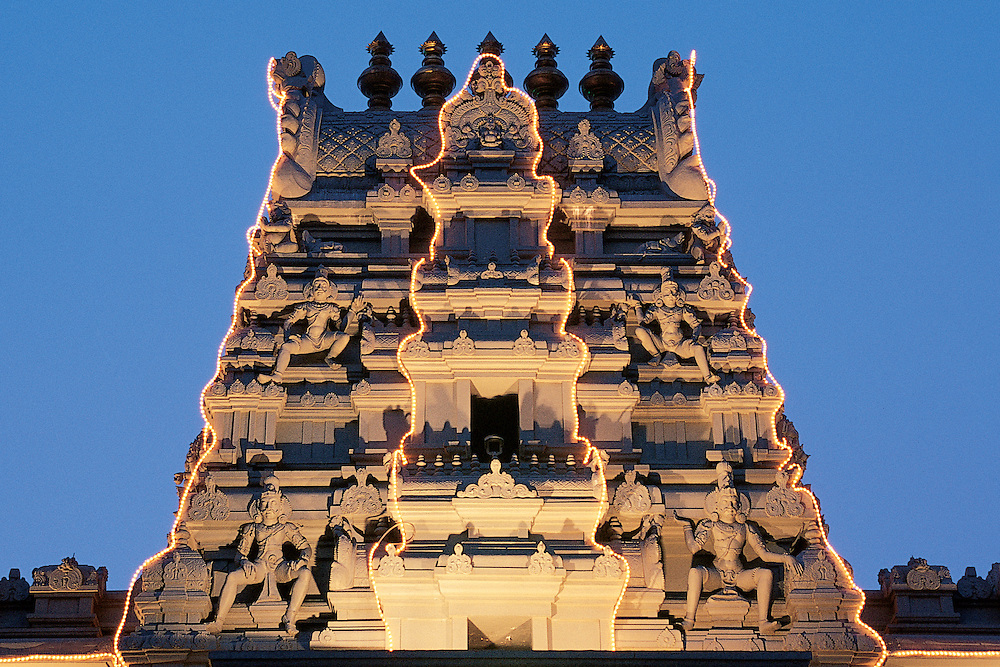 New York. Hindu Temple of North America in Queens, borough of New York City