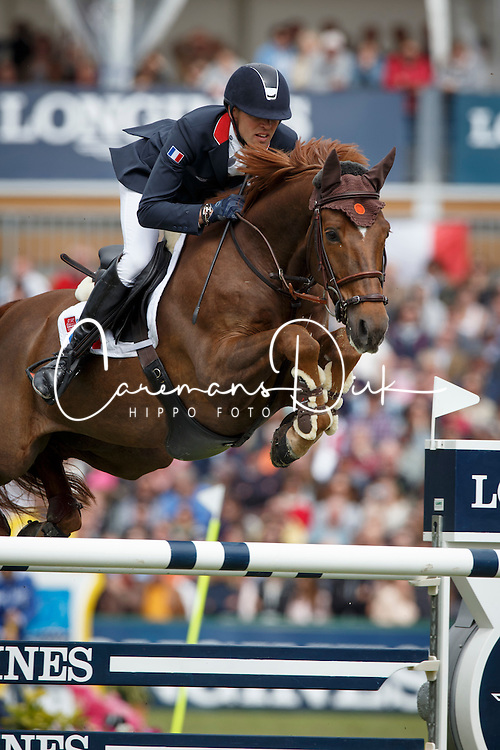 Delestre Simon, (FRA), Ryan Des Hayettes<br /> Furusiyya FEI Nations Cup presented by Longines<br /> Longines Jumping International de La Baule 2015<br /> © Hippo Foto - Dirk Caremans<br /> 15/05/15