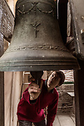 Bologna, Bell-ringers in the tower bell of the Sanctuary of  the Madonna di San Luca