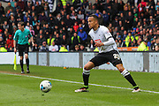 Derby defender Marcus Olsson on the ball during the Sky Bet Championship match between Derby County and Bolton Wanderers at the iPro Stadium, Derby, England on 9 April 2016. Photo by Aaron  Lupton.