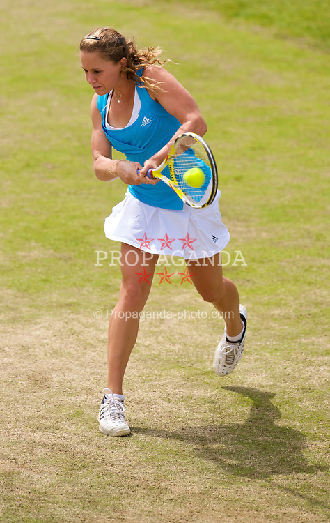 LIVERPOOL, ENGLAND - Saturday, June 20, 2009: 2009 Michelle Larcher De Brito (POR) in action during the Women's Final at the Tradition ICAP Liverpool International Tennis Tournament at Calderstones Park. (Pic by David Rawcliffe/Propaganda)