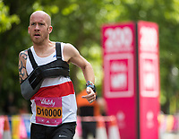 Derek Rae GBR two thirds of their way to completing his mile in the family waves at The Vitality Westminster Mile, Sunday 28th May 2017.<br /> <br /> Photo: Thomas Lovelock for The Vitality Westminster Mile<br /> <br /> For further information: media@londonmarathonevents.co.uk