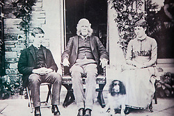 © London News Pictures. Collect picture shows (left to right) Walter Potter, Rupert Potter & Beatrix Potter age 19 at the Lingholm estate in 1885. Previously unseen pictures of Beatrix potter with her family have been unearthed during the purchase and restoration of the Lingholm Estate, the Potter family holiday home, where Beatrix potter drew inspiration for many of her most famous characters. Famous books such as Peter Rabbit and Squirrel Nutkin were inspired by the surroundings of the Cumbria estate, which is being opened to the public for the first time. Photo credit: Andrew McCaren/LNP WORDS AVAILABLE HERE http://tinyurl.com/oyb7url