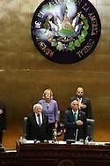 El Presidente de la República Irlanda Michael D. Higgings ofrece jueves  OCT 24,2013un discurso en la Asamblea Legislativa San Salvador, El Salvador Presidente de Irlanda, , quien junto a su esposa, Sabina Higgins, realiza una Visita Oficial a El Salvador. Photo: Franklin Rivera/fmlna/Imagenes Libres.