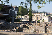 Israel, Sea of Galilee, the ruins and excavations at Capernaum