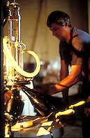 hand bottling of fine Champagne at Jacques Selosse, Avize, Champagne, France.