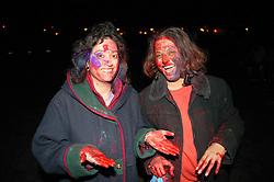 Women enjoying the Hindu Holi festival; celebration of colours,