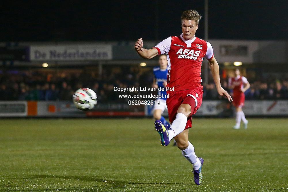 VEENENDAAL - 29-10-2014 - GVVV - AZ, KNVB beker, Sportpark Panhuis, 0-5, AZ speler Viktor Elm scoort de 0-3, doelpunt.