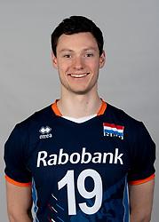 14-05-2018 NED: Team shoot Dutch volleyball team men, Arnhem<br /> Just Dronkers #19 of Netherlands