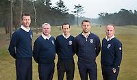 Arnhem - Rosendaelsche Golfclub De pro's, vlnr Menno Pelk, Jan Dorrestein , Tom Budding, Floris de Vries en John Boerdonk . COPYRIGHT KOEN SUYK